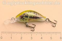 Wobbler Ugly Duckling 2,8 cm sinkend  BASS (Schwarzbarsch)
