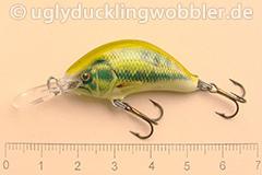 Wobbler Ugly Duckling 3,5 cm sinkend  BASS (Schwarzbarsch)