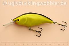 Wobbler Ugly Duckling Rassel 8,5 cm schwimmend  BGI (Schwarz-gold)