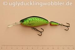 Wobbler Ugly Duckling 7,5 cm schwimmend zweiteilig Tiefläufer FT (Firetiger)