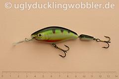 Wobbler Ugly Duckling 7,5 cm schwimmend zweiteilig Tiefläufer PR (Barsch)