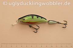 Wobbler Ugly Duckling 7,5 cm schwimmend zweiteilig Mittelläufer PR (Barsch)