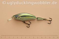 Wobbler Ugly Duckling 7,5 cm schwimmend zweiteilig Mittelläufer SI (Schneider)
