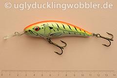 Wobbler Ugly Duckling 8 cm sinkend  FTR (Firetiger rot)