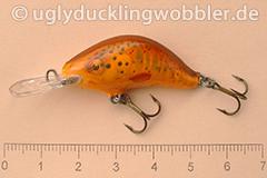 Wobbler Ugly Duckling 3,5 cm sinkend  BT RED (Bachforelle rot)