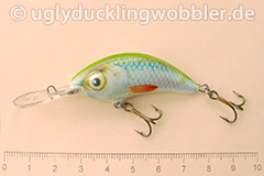 Wobbler Ugly Duckling 5 cm sinkend  SIL (Grün-weiß)