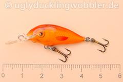Wobbler Ugly Duckling 2,8 cm schwimmend  SIL RED (Grün-weiß rot)