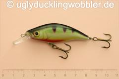 Wobbler Ugly Duckling 6 cm schwimmend Mittelläufer PR (Barsch)