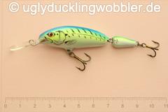 Wobbler Ugly Duckling 6,5 cm schwimmend zweiteilig Tiefläufer FTB (Firetiger blau)