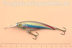 Wobbler Ugly Duckling 8 cm schwimmend schlank RE (Regenbogenforelle)