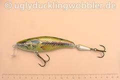 Wobbler Ugly Duckling 12,5 cm schwimmend zweiteilig Flachläufer BASS (Schwarzbarsch)
