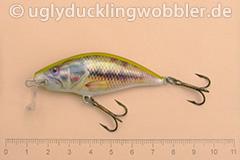 Wobbler Ugly Duckling 6 cm schwimmend Flachläufer BASS (Schwarzbarsch)