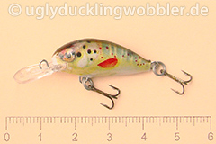 Wobbler Ugly Duckling 2,8 cm schwimmend  BT (Bachforelle)