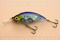 Wobbler Ugly Duckling Rassel 8,5 cm schwimmend reflektierend BIS (Weißfisch blau-weiß)