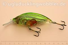 Wobbler Ugly Duckling Rassel 8,5 cm schwimmend reflektierend SIL (Grün-weiß)