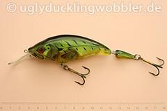Wobbler Ugly Duckling Rassel 11,5 cm schwimmend zweiteilig reflektierend FT (Firetiger)
