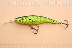 Wobbler Ugly Duckling 11 cm sinkend  FT (Firetiger)