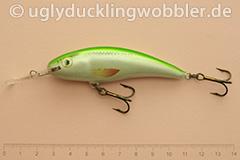 Wobbler Ugly Duckling 8 cm schwimmend  SIL (Grün-weiß)