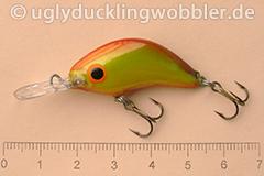 Wobbler Ugly Duckling 3,5 cm sinkend  DFYR (Doppel-rot-gelb)