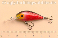 Wobbler Ugly Duckling 3,5 cm schwimmend  BD (Blutig)