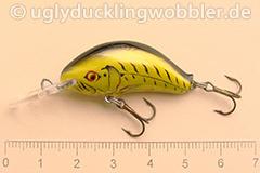 Wobbler Ugly Duckling 3,5 cm sinkend  TBGI (Tiger Schwarz-gold)