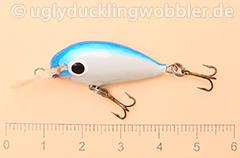 Wobbler Ugly Duckling 2,8 cm schwimmend  BH (Blauer Kopf)