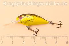 Wobbler Ugly Duckling 2,8 cm schwimmend  TBGI (Tiger Schwarz-gold)