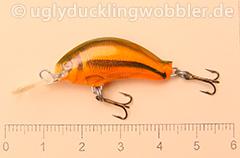 Wobbler Ugly Duckling 2,8 cm sinkend  SI RED (Schneider rot)