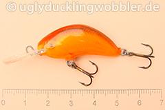 Wobbler Ugly Duckling 3,5 cm sinkend  SIL RED (Grün-weiß rot)