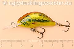 Wobbler Ugly Duckling 3,5 cm sinkend  BASS GOLD (Schwarzbarsch gold)