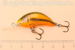 Wobbler Ugly Duckling 3,5 cm sinkend  SI RED (Schneider rot)