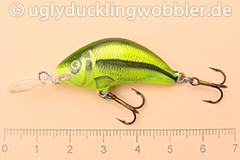 Wobbler Ugly Duckling 3,5 cm sinkend  SI CHA (Schneider gelb-grün)