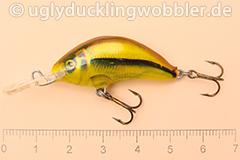 Wobbler Ugly Duckling 3,5 cm sinkend  SI GOLD (Schneider gold)