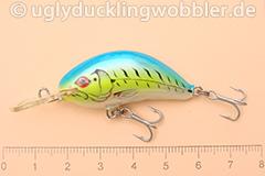 Wobbler Ugly Duckling 4 cm sinkend  FTB (Firetiger blau)