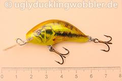 Wobbler Ugly Duckling 4 cm sinkend  BASS GOLD (Schwarzbarsch gold)