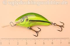 Wobbler Ugly Duckling 4 cm sinkend  SI CHA (Schneider gelb-grün)