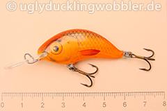 Wobbler Ugly Duckling 4 cm sinkend  SIL RED (Grün-weiß rot)