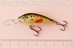 Wobbler Ugly Duckling 4 cm schwimmend  BT (Bachforelle)