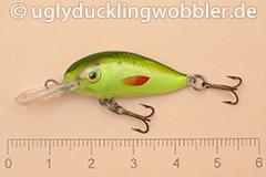 Wobbler Ugly Duckling 2,8 cm schwimmend  SIL CHA (Grün-weiß gelb-grün)