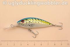 Wobbler Ugly Duckling 5 cm schwimmend  FTB (Firetiger blau)