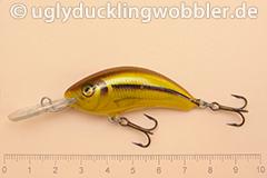 Wobbler Ugly Duckling 5 cm sinkend  SI GOLD (Schneider gold)