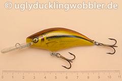 Wobbler Ugly Duckling 6 cm schwimmend Tiefläufer SI GOLD (Schneider gold)