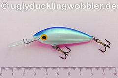 Wobbler Ugly Duckling 5 cm schwimmend  BIS (Weißfisch blau-weiß)