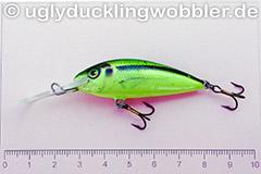 Wobbler Ugly Duckling 5 cm schwimmend  SI CHA (Schneider gelb-grün)