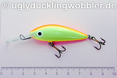 Wobbler Ugly Duckling 5 cm schwimmend  FYR (Rot-gelb)