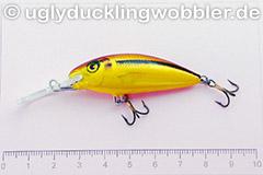 Wobbler Ugly Duckling 5 cm schwimmend  SI GOLD (Schneider gold)