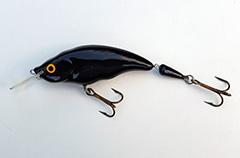 Wobbler Ugly Duckling Rassel 11,5 cm schwimmend zweiteilig BLACK