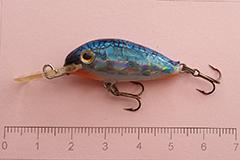 Wobbler Ugly Duckling 3,5 cm schwimmend LIMITED BLUE Sonderserie mit kleiner Stückzahl