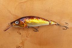 Wobbler Ugly Duckling 11 cm 22 Gramm schwimmend UNIKAT Nr. 06 Mittelläufer