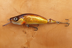 Wobbler Ugly Duckling 11 cm 24 Gramm schwimmend UNIKAT Nr. 09 Mittelläufer